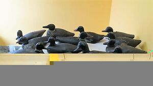 old wooden decoys