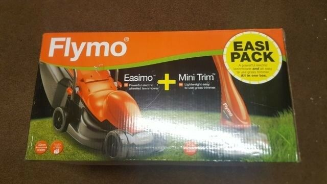 Flymo lawnmower and strimmer twin pack