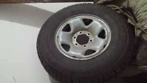 245/75r16 Cooper Discoverer Ice and snow on rims