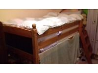 single cabin bed good condition solid steps goes either end.