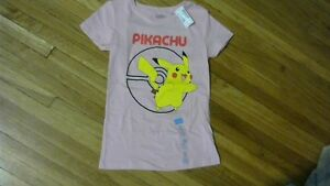 Girls Pikachu Pink T Shirt [new] 75% off