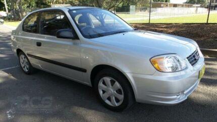 2003 Hyundai Accent LC 1.6 Silver 4 Speed Automatic Hatchback Granville Parramatta Area Preview
