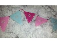 Pink and blue bunting