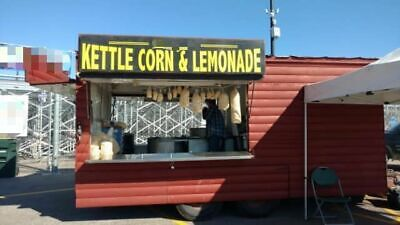 Enclosed Log Cabin Style 30 Kettle Corn Concession Trailer Mobile Food Unit F