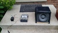 "4"" subwoofer with 250w amp"