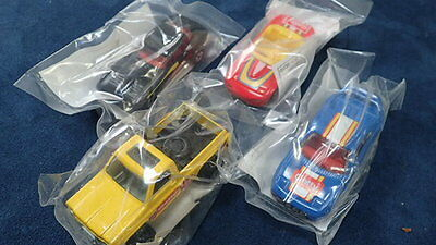 1992 Hot Wheels Getty Oil Promo  4 Cars Range Rover Porsche Bmw Vw Golf Nos New