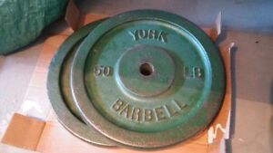 """(2) 50LBS Standard 1"""" Weight Plates -100lbs Total"""