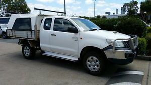 2012 Toyota Hilux KUN26R MY12 SR Xtra Cab Glacier White 5 Speed Manual Cab Chassis Acacia Ridge Brisbane South West Preview