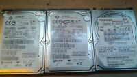 *** 3 LAPTOP HARD DRIVES *** QUICK SALE !! 80 O.B.O