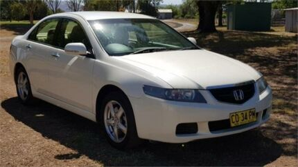 2003 Honda Accord Euro White Manual Sedan