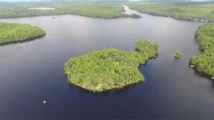 private island in cottage country