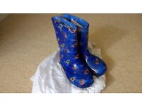 Brand new, boys wellies, size 8 junior, space theme
