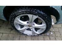 """peugeot citroen 15"""" Wolfrace wheels"""