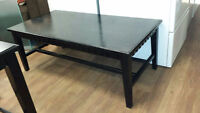 ASHLEY ZER COFFEE TABLE AND END TABLES