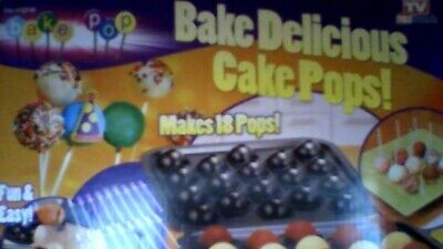 Bake Pop: Cake Pops non stick Baking Pan & Accessories/makes 18 pops! / sticks!