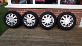 14inch ford fiesta alloy wheels and tyres set of 4