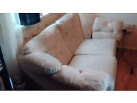 2 cream fabric sofas 2 seater and 3 seater harveys all covers zip off
