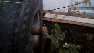 Tires and axle