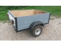 CAR TRAILER 4' X 3' CAMPING TIP RUNS ETC