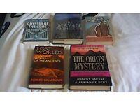 FIVE BOOKS ON ANCIENT EGYPT, ANCIENT ALIENS TYPE INFO. MAYAN PROPHECIES ETC.