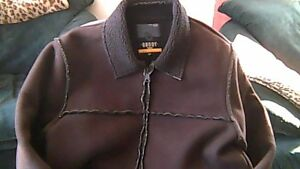 Ladies Large Fall Brushed Suede Coat.