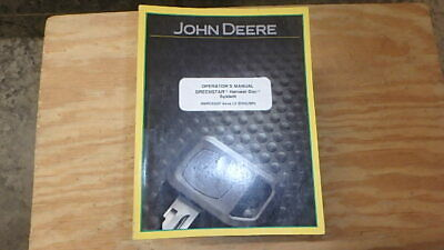 John Deere Operators Manual Greenstar Harvest Doc 151 Pages B18