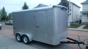EXTRA HEIGHT - HAULMARK 7 x 14 ENCLOSED CARGO TRAILER