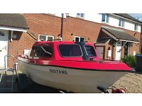 16ft day/ fishing boat and outboard and trailer