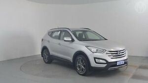 2013 Hyundai Santa Fe DM Active CRDi (4x4) Sleek Silver 6 Speed Automatic Wagon Perth Airport Belmont Area Preview