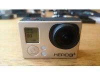 GOPRO HERO 3+ BLACK, 32Gb SD Card, 3 batteries, Mounts, Accessories Bundle GREAT CHRISTMAS GIFT