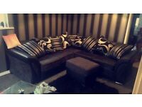 NEW LOVELY SHANNON CHENILLE FABRIC CORNER SOFA OR 3+2 SOFA SET AVAILABLE NOW IN STOCK