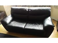 LEATHER BLACK SOFA BED FOR SALE - MODEL MILANO - ARGOS - PERFECT CONDITION - NO WEARS OR TEARS