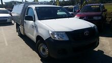 2013 Toyota Hilux TGN16R MY14 Workmate White 5 Speed Manual Cab Chassis Buderim Maroochydore Area Preview