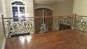 stainless  steel  and glass ,wroung iron  baluster .railings .pi