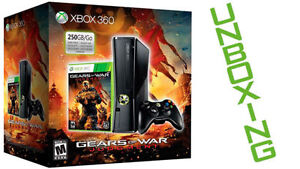Xbox 360 Slim Gears of War Limited Edit+10 JEUX + 2 controllers