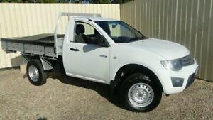 2011 Mitsubishi Triton MN MY11 GLX SINGLE CAB White Automatic Cab Chassis Parramatta Park Cairns City Preview
