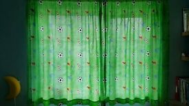 Green Curtains 100% Cotton