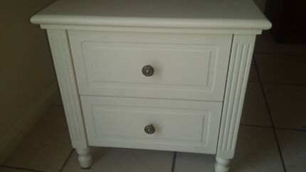 Bedside Drawers - White