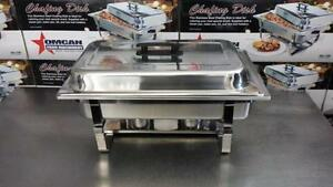 Stainless Steel Chafing Dish / Rechaud a Bruleurs - Nouveau!