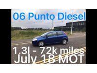 DIESEL £999 2006 Fiat Punto Diesel 1.3l* like fiesta punto yaris micra corsa c1 aygo 107 getz polo
