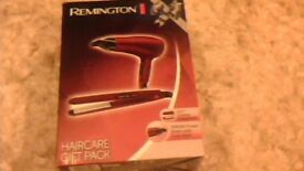 REMINGTON hair care GIFT SET boxed as new ceramic straighteners and hairdryer