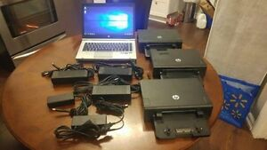 HP Elitebook 8460p + 3 Dock Station + 2 AC Adapter + 2 Batteries
