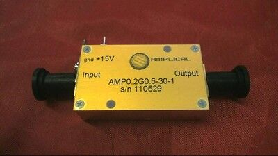 Amplical Broadband Rf Amplifier 200-500 Mhz 30 Db Amp0.2g.05-30-1