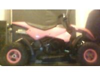 mint condition girls 50cc quadbike with spare racing engine pics are bad quality in great condition