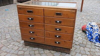 3/5/417 Ladenschrank Schubladenschrank Ladentisch  Industriedesign Loft 1930