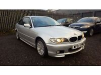 BMW 3 SERIES 2.0 318CI SPORT COUPE 141 BHP Full leather (silver) 2004