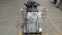 motorized shopping cart -rechargeable