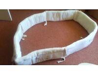 babys cot bundle consists of cot bumper duvet, blanket valance sheet mobile{ musical} and more