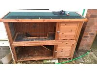 rabbit hutch and small run 6mths old £50 no offers