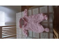 3 x baby girl jumpsuit 3-6 months old